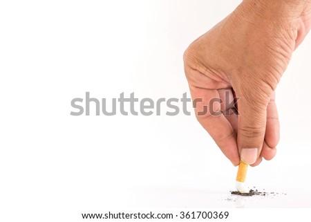Stop smoking cigarette ,No smoking - stock photo