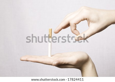 stop smoking cigarettes before smoking stops you - stock photo