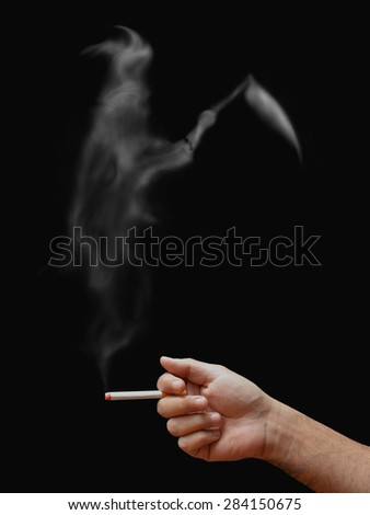 stop smoking kills in public area  - stock photo
