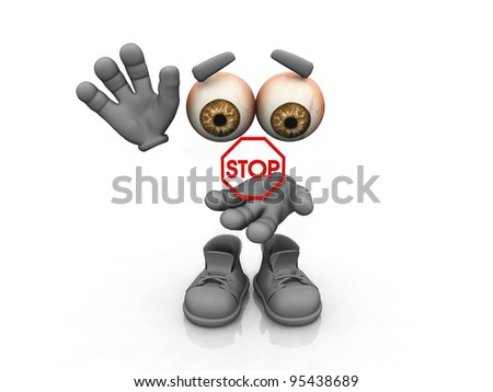 stop symbol on a white background - stock photo