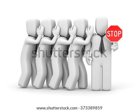 Stop the gossip - stock photo