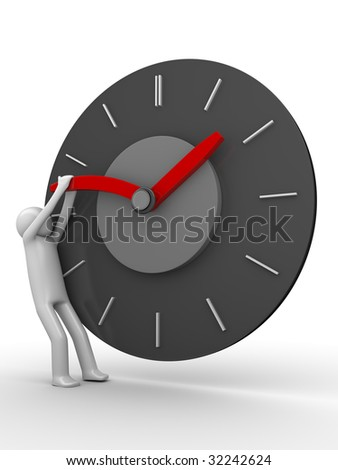 Stop the time! - stock photo