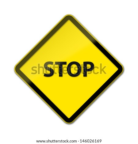 Stop - Traffic Sign isolated on white background