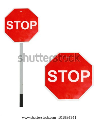 Stop traffics sign - stock photo