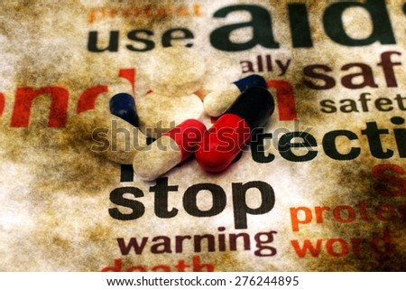 Stop using pills - stock photo