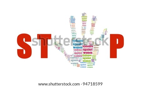 Stop Violence Against Women - stock photo