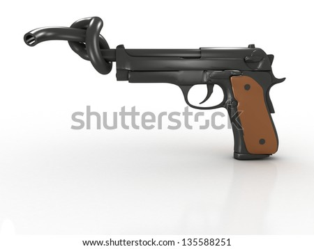 Stop Violence Or No Gun Prohibited - stock photo