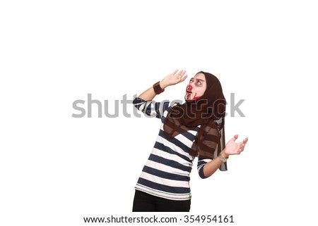 STOP Violence With Women, Beaten white woman with cuts and bruises with a white background - stock photo