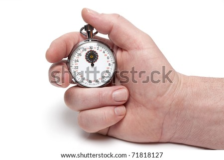 Stop-watch in a hand - stock photo