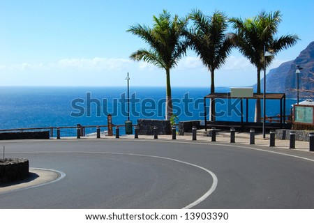 Stop - your vacation! Tenerife, Canary Islands - stock photo