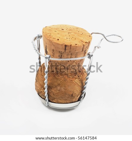 Stopper  for wine closing isolated on a white background - stock photo