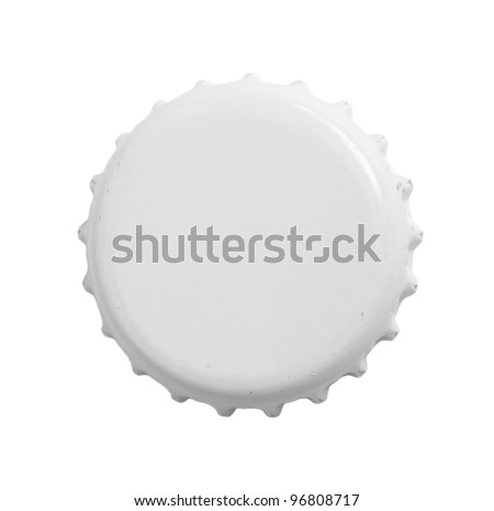 Stopper from a bottle beer isolated on a white background. - stock photo