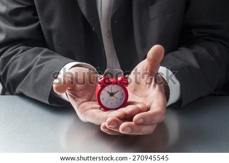 stopping time with patience in mind - stock photo