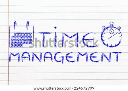 stopwatch and calendar, the role of time management in a global business - stock photo