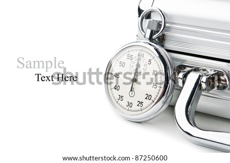 stopwatch and case isolated on a white background - stock photo