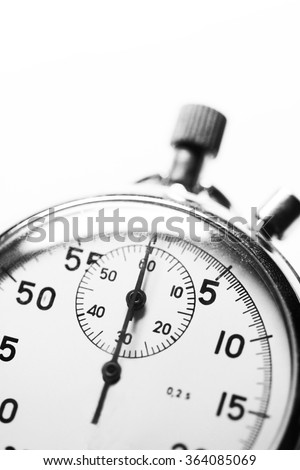 Stopwatch black and white - stock photo