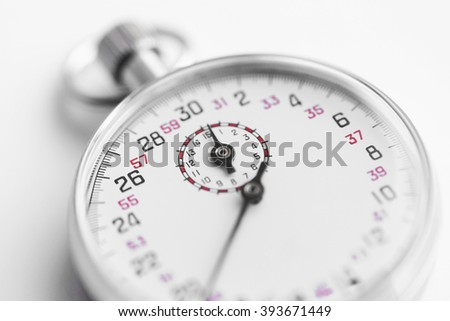 Stopwatch, close up - stock photo