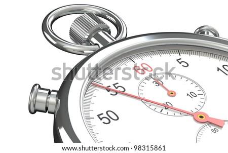 Stopwatch. Close up of a Stopwatch. - stock photo