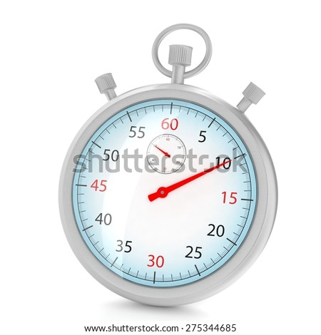 stopwatch 3d illustration