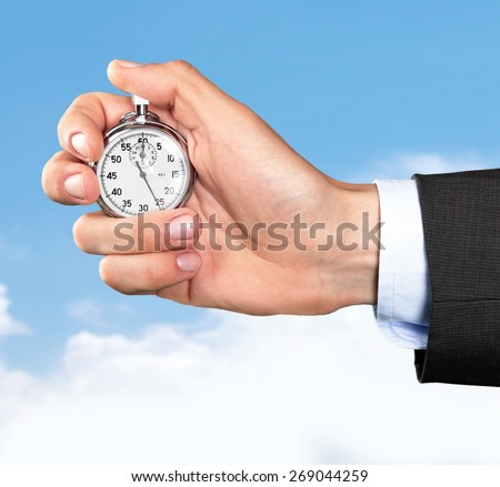 Stopwatch, Instrument of Time, Business. - stock photo