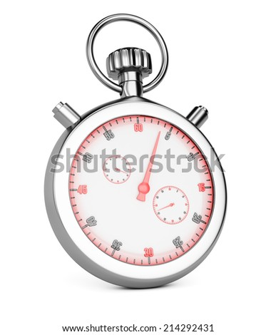 Stopwatch isolated on white background. 3d rendering image - stock photo