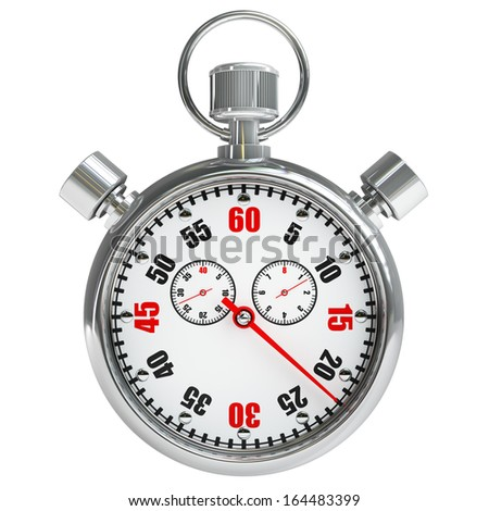 Stopwatch isolated on white background High resolution 3d  - stock photo
