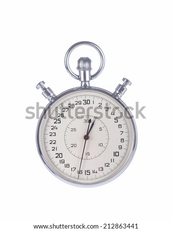 Stopwatch isolated on white background with clipping path  - stock photo