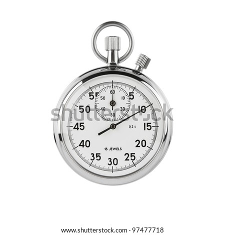 Stopwatch isolated on white background with clipping path