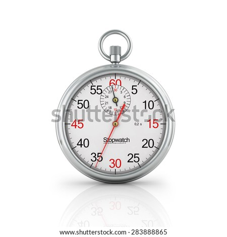 Stopwatch. Note the time. - stock photo