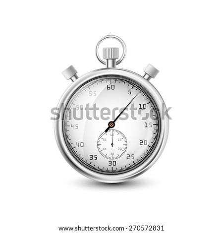 stopwatch on white background - stock photo