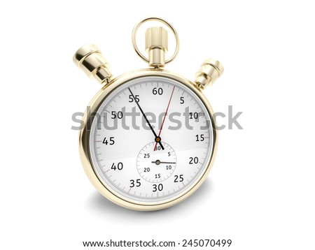 Stopwatch render - stock photo
