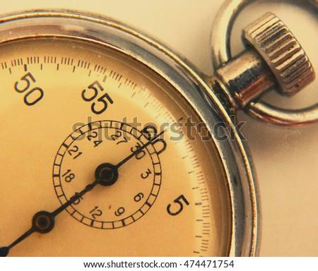 Stopwatch Retro Vintage Antiques Macro Closeup Wallpaper Background Value Measure Time Old Clock Arrow Minute Second