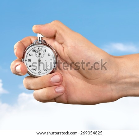 Stopwatch, Time, Watch. - stock photo