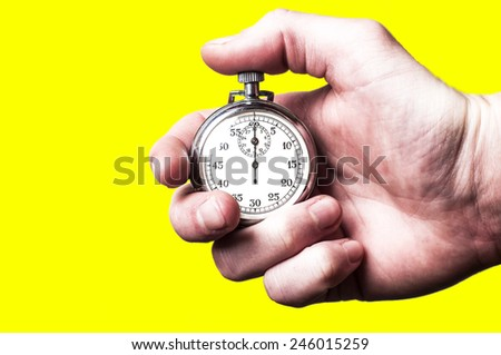 Stopwatch yellow