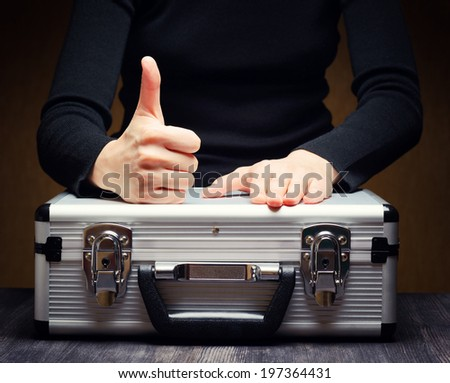 Storage and protection of cash and valuable goods. - stock photo