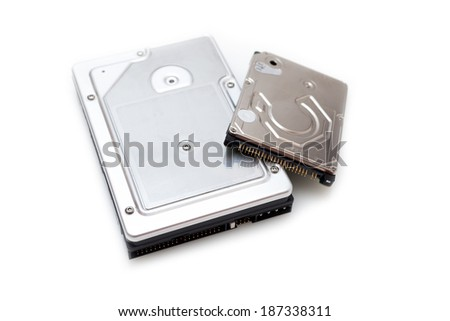 Storage device (Hard disk drive) HDD isolated on white background