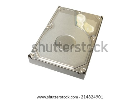 Storage device Hard disk drive on white background
