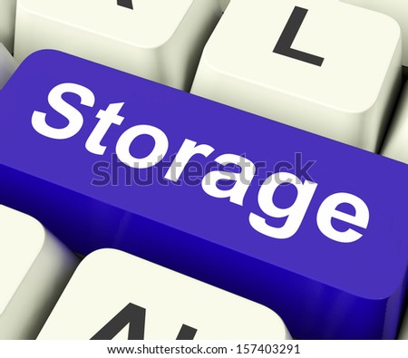 Storage Key On Keyboard Meaning Store Unit Or Storeroom