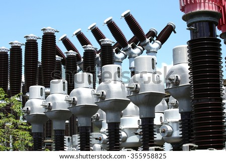 Storage Outdoor current transformer - stock photo