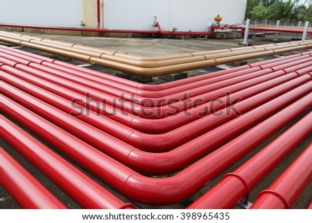 Storage tank and pipe sent oil  - stock photo