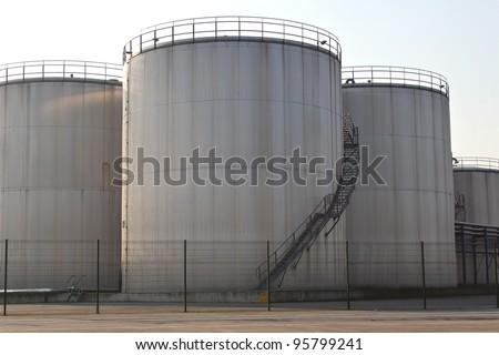 Storage tanks - stock photo