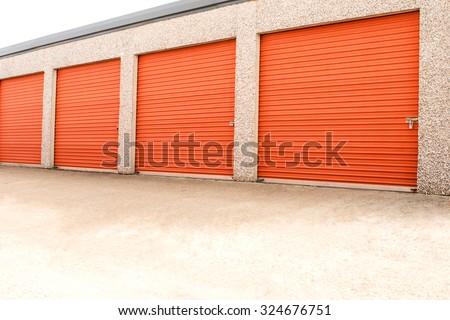 Storage units in a self storage facility. - stock photo