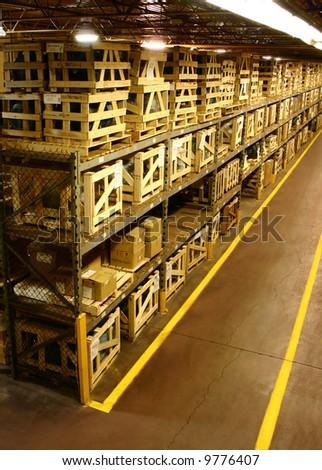 Storage Warehouse Interior. - stock photo