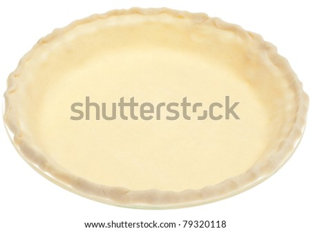 Store Bought Pie Crust Before Cooking Isolated on White with a Clipping Path. - stock photo