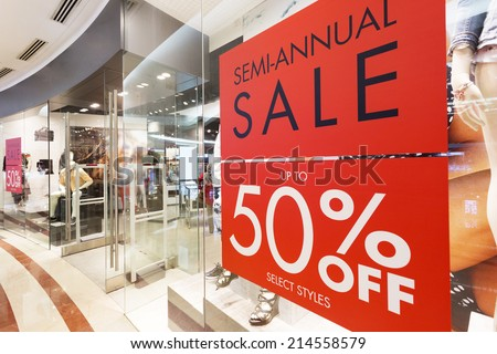 store discount sign  - stock photo