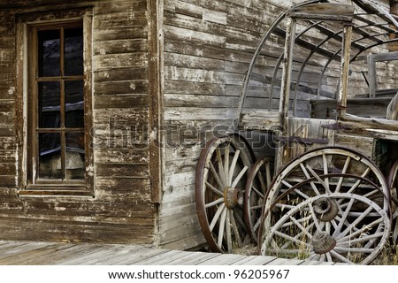 Store Front of Old Western Town - stock photo
