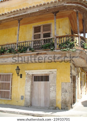 Store in the Old City of Cartagena, Colombia - stock photo