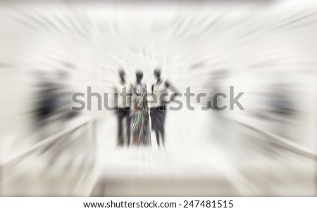Store Mannequins Blurred - stock photo