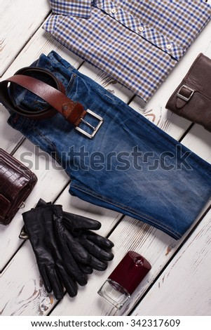 Store of branded men's clothing. - stock photo