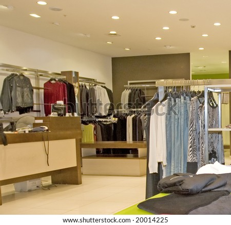 store of fashion dress - stock photo